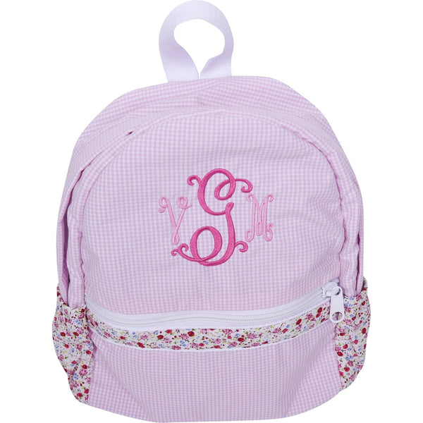 Pink Gingham Liberty Trim Backpack