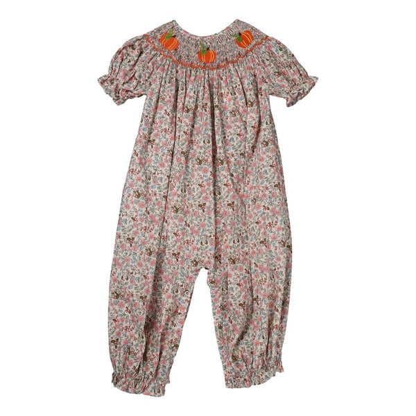 Liberty Smocked Pumpkin Long Bubble
