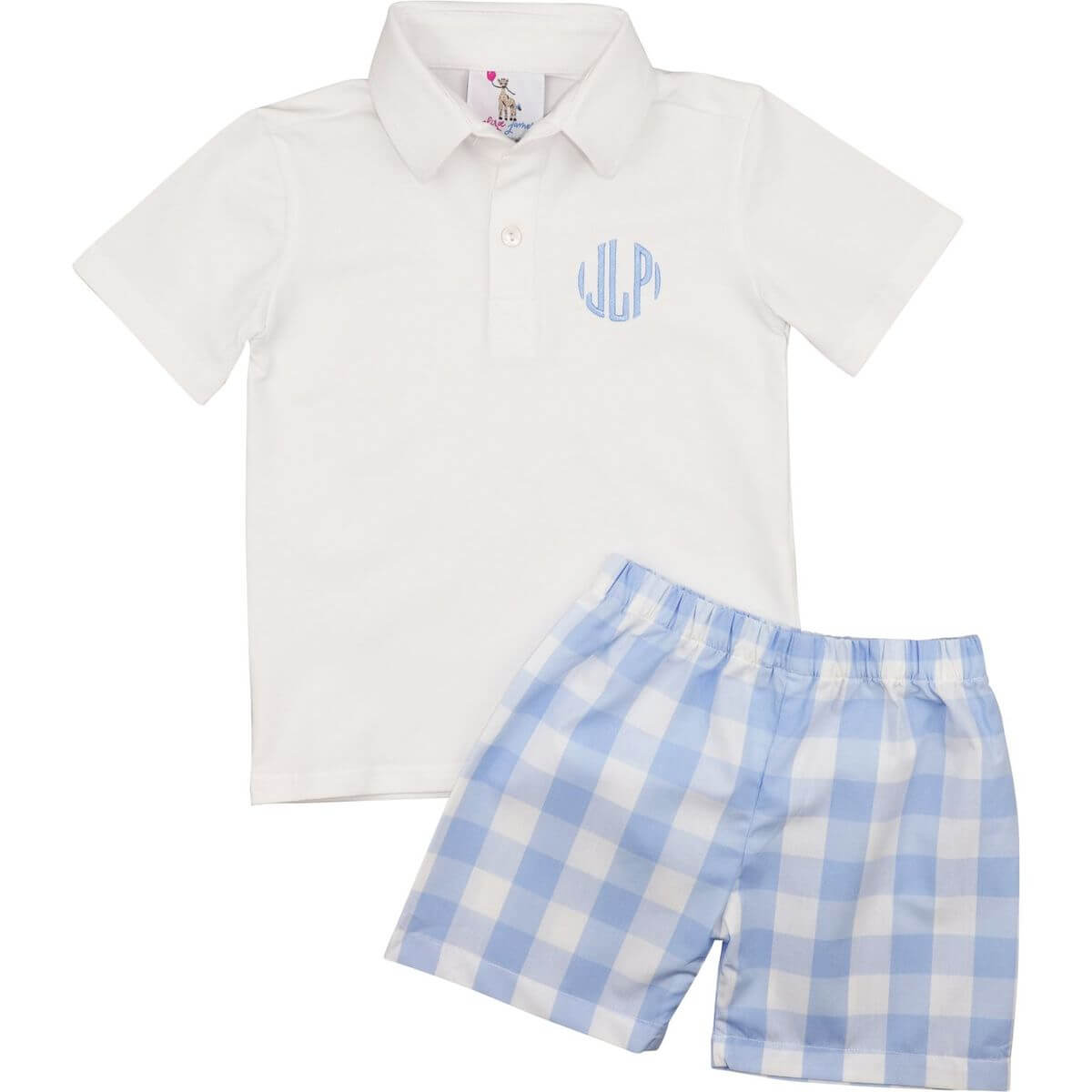 Blue Buffalo Check Polo Short Set