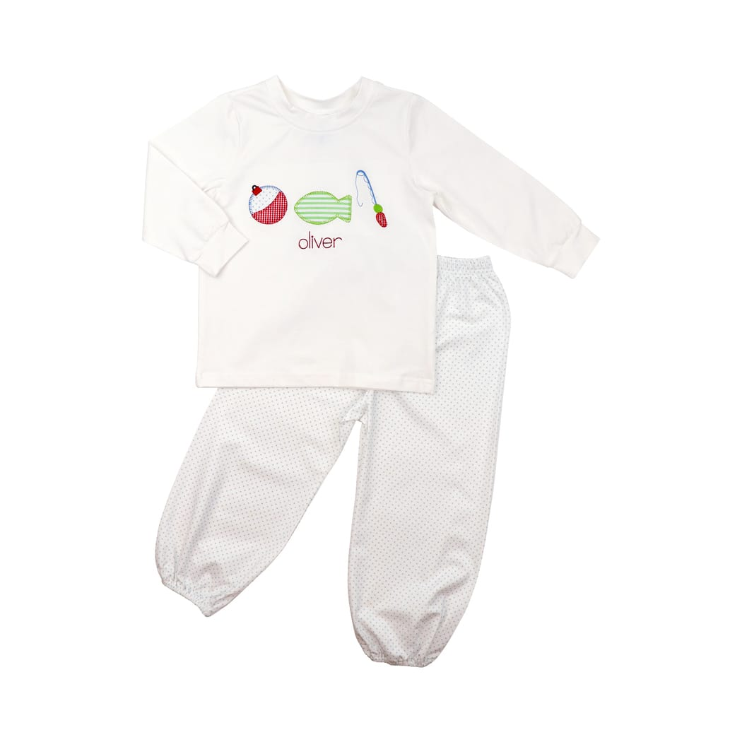 Blue Dot Fishing Pant Set