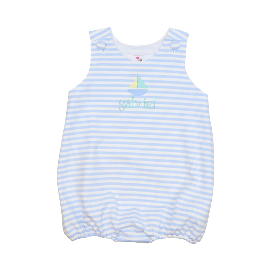 Blue Mini Stripe Knit Bubble