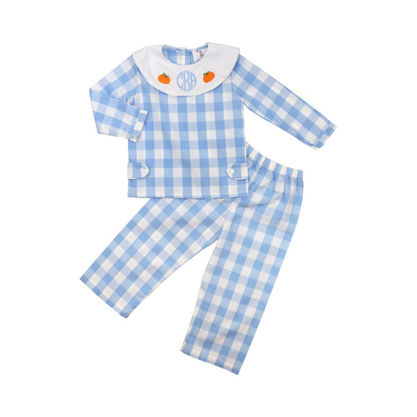 Blue Buffalo Check Pumpkin Pant Set