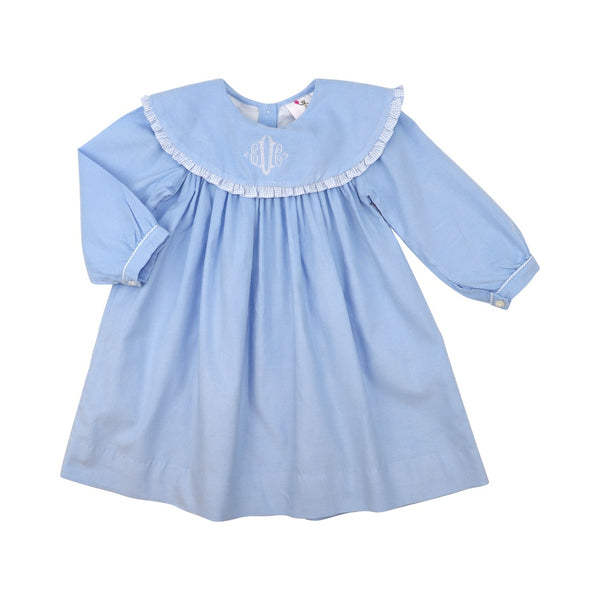 Blue Corduroy Dress