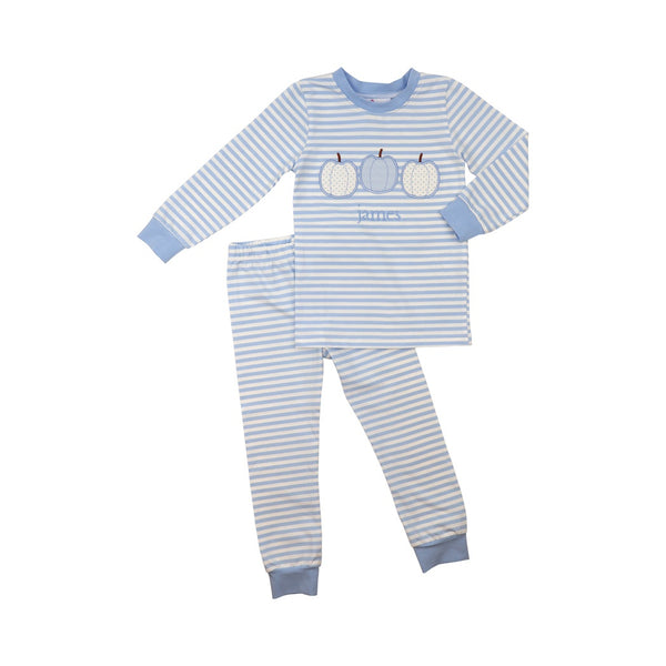Blue Knit Stripe Pumpkin Pajamas