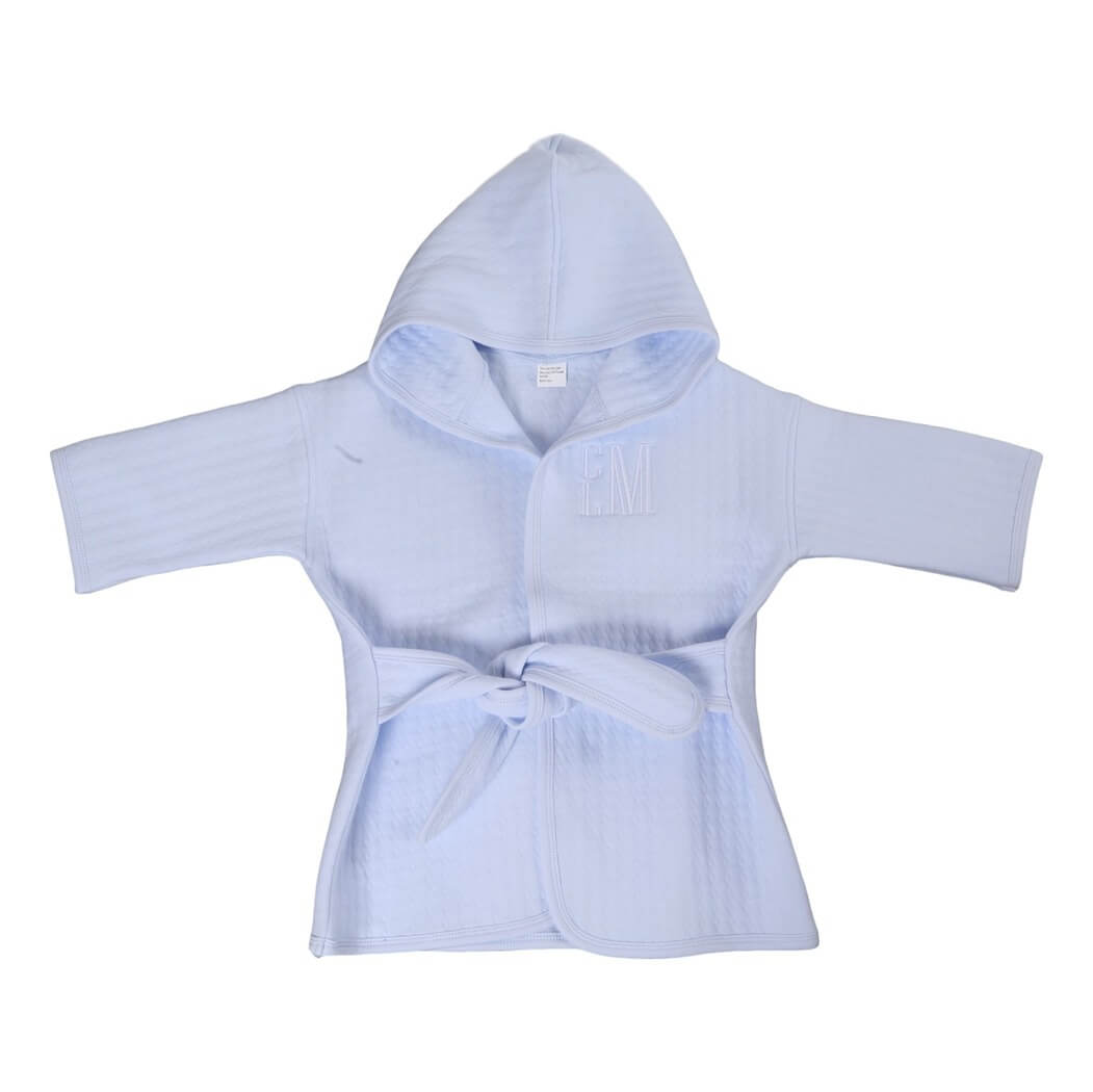 Blue Knit Toddler Robe (2T-4T)