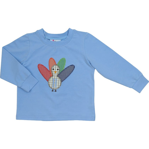 Blue Knit Turkey Shirt