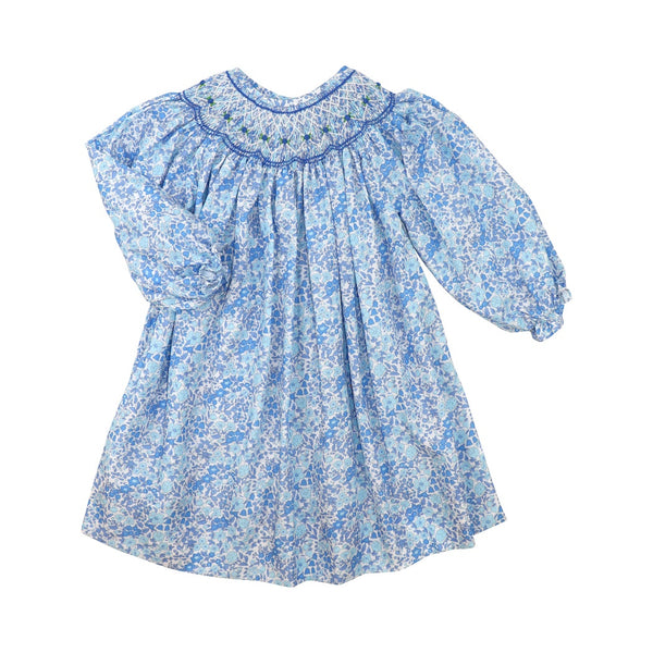 Blue Liberty Smocked Dress