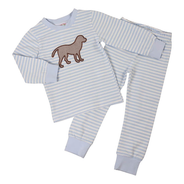 Blue Mini Stripe Knit Lab Pajamas