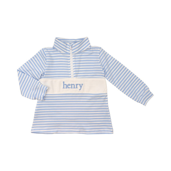 Blue Mini Stripe Pullover