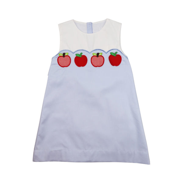 Blue Pique Apple Dress