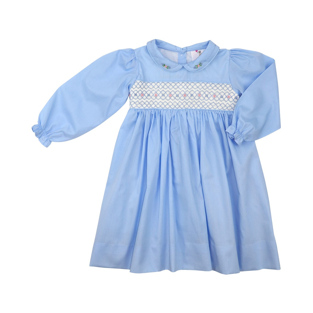 Blue Smocked Dress