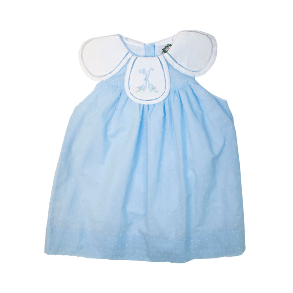 Blue Swiss Dot Eliza Dress