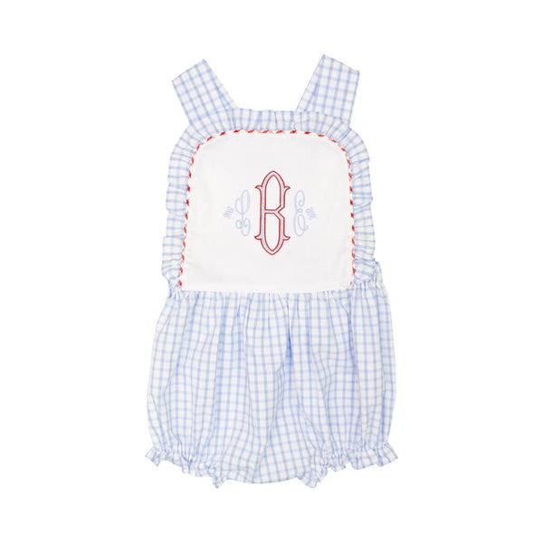 Blue Windowpane Girls Bubble