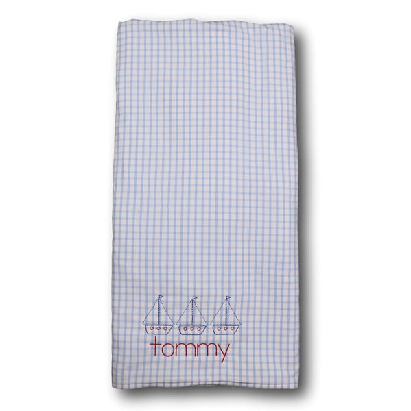 Blue Windowpane Towel