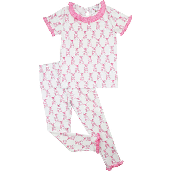 Pink Knit Ballet Slipper Pajamas