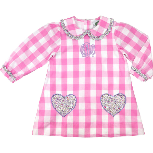 Pink Buffalo Check And Liberty Pocket Heart Dress