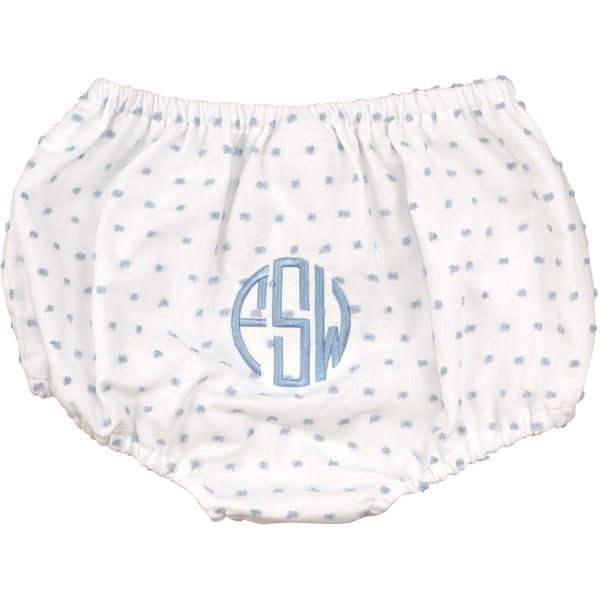 Blue Swiss Dot Swim Bloomer
