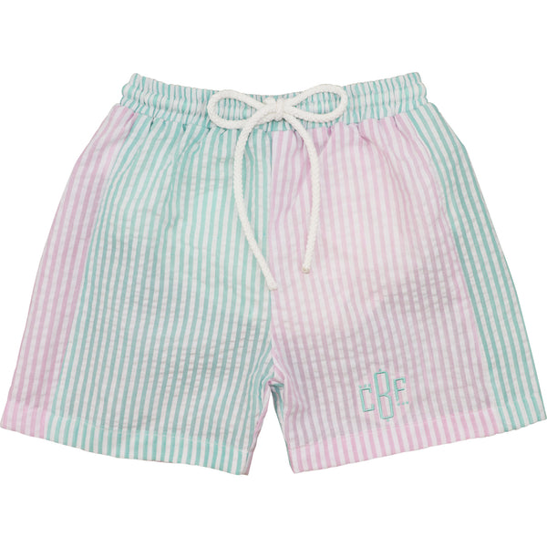 Pastel Seersucker Stripe Trunks