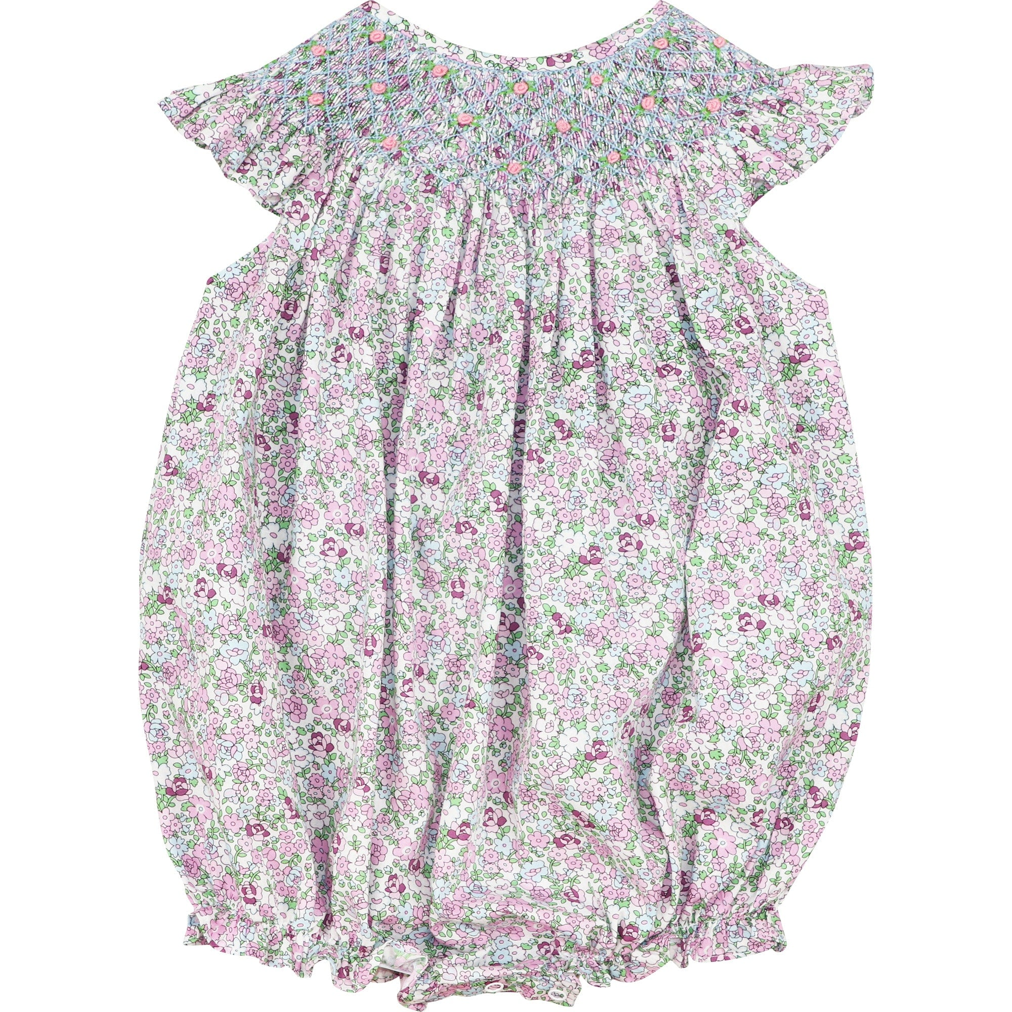Lavender Liberty Smocked Bubble