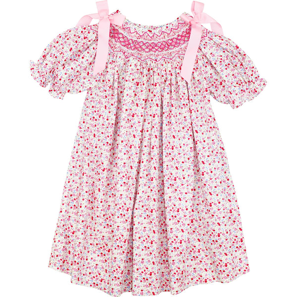 Pink Liberty Smocked Dress