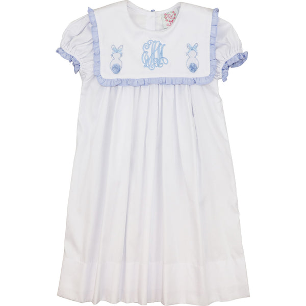 Blue and White Pique Bunny Dress
