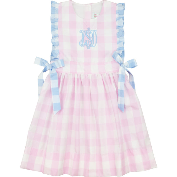 Pink and Blue Buffalo Check Dress