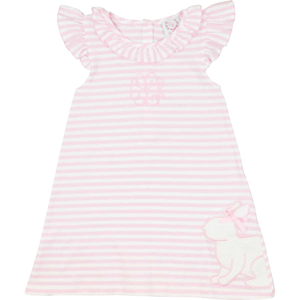 Pink Knit Stripe Bunny Dress
