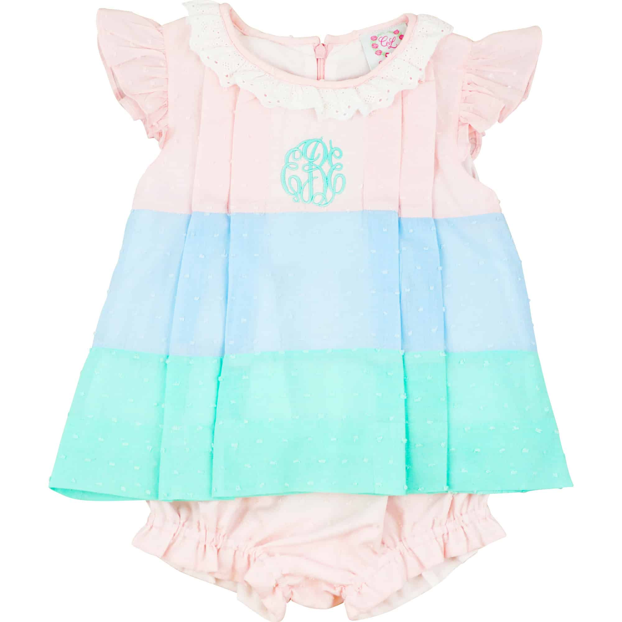 Pastel Swiss Colorblock Diaper Set