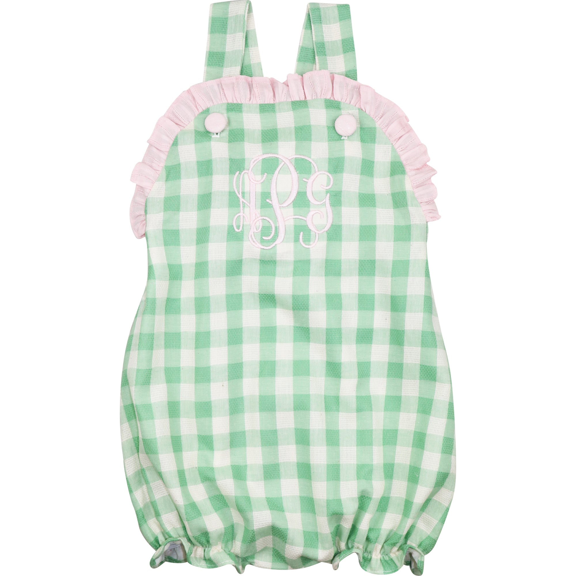Mint And Pink Check Linen Bubble