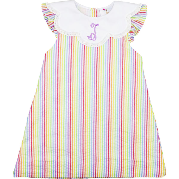 Pastel Stripe Seersucker Dress