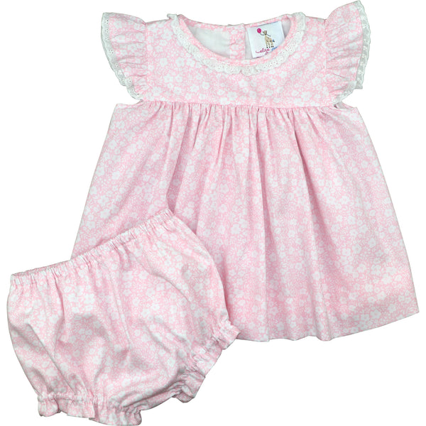 Pink And White Floral Diaper Set