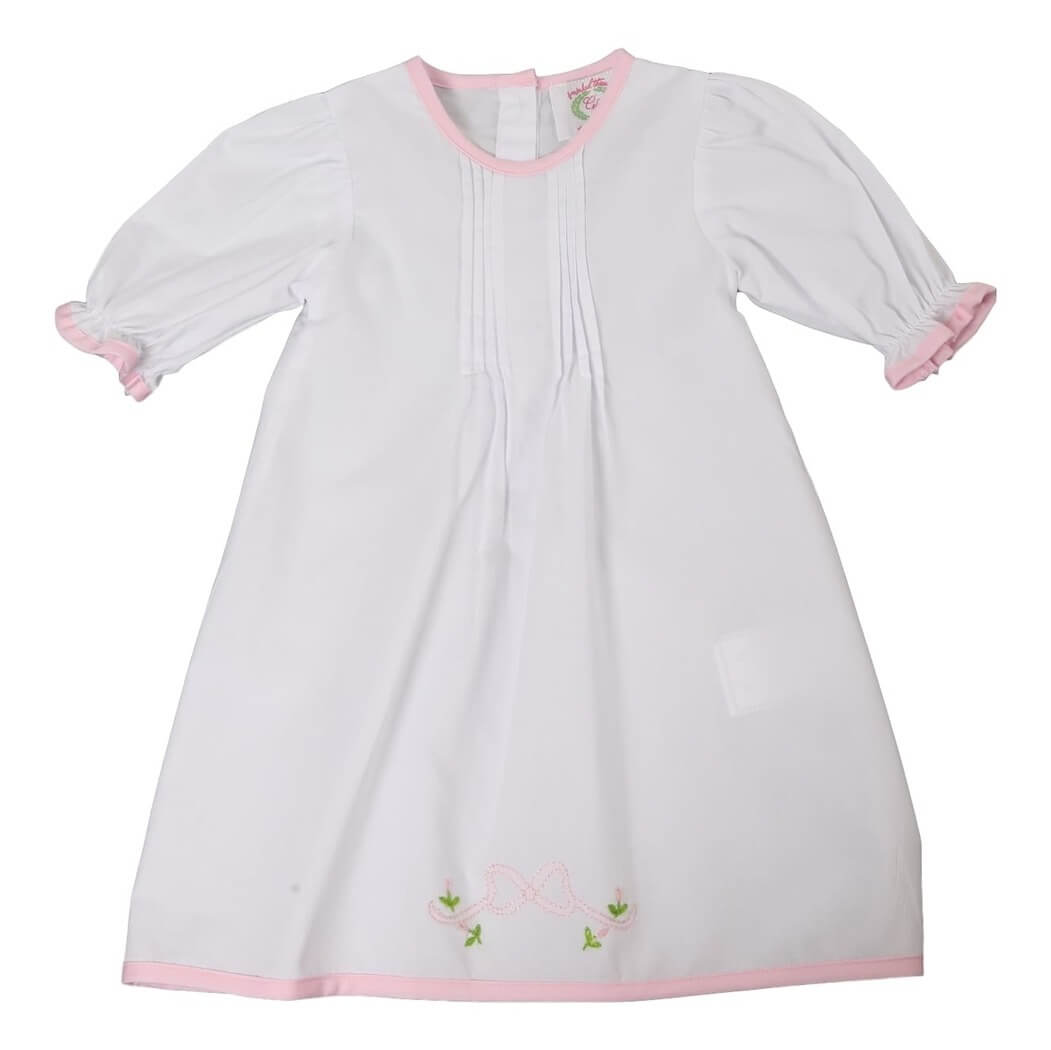 Embroidered Bow Layette Gown | Eliza James Kids