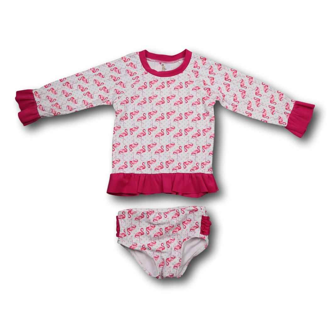 Flamingo Rash Guard Set