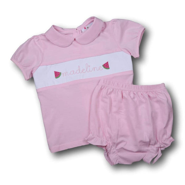 Girls Sets - Girls Diaper Set - Pink knit insert diaper set