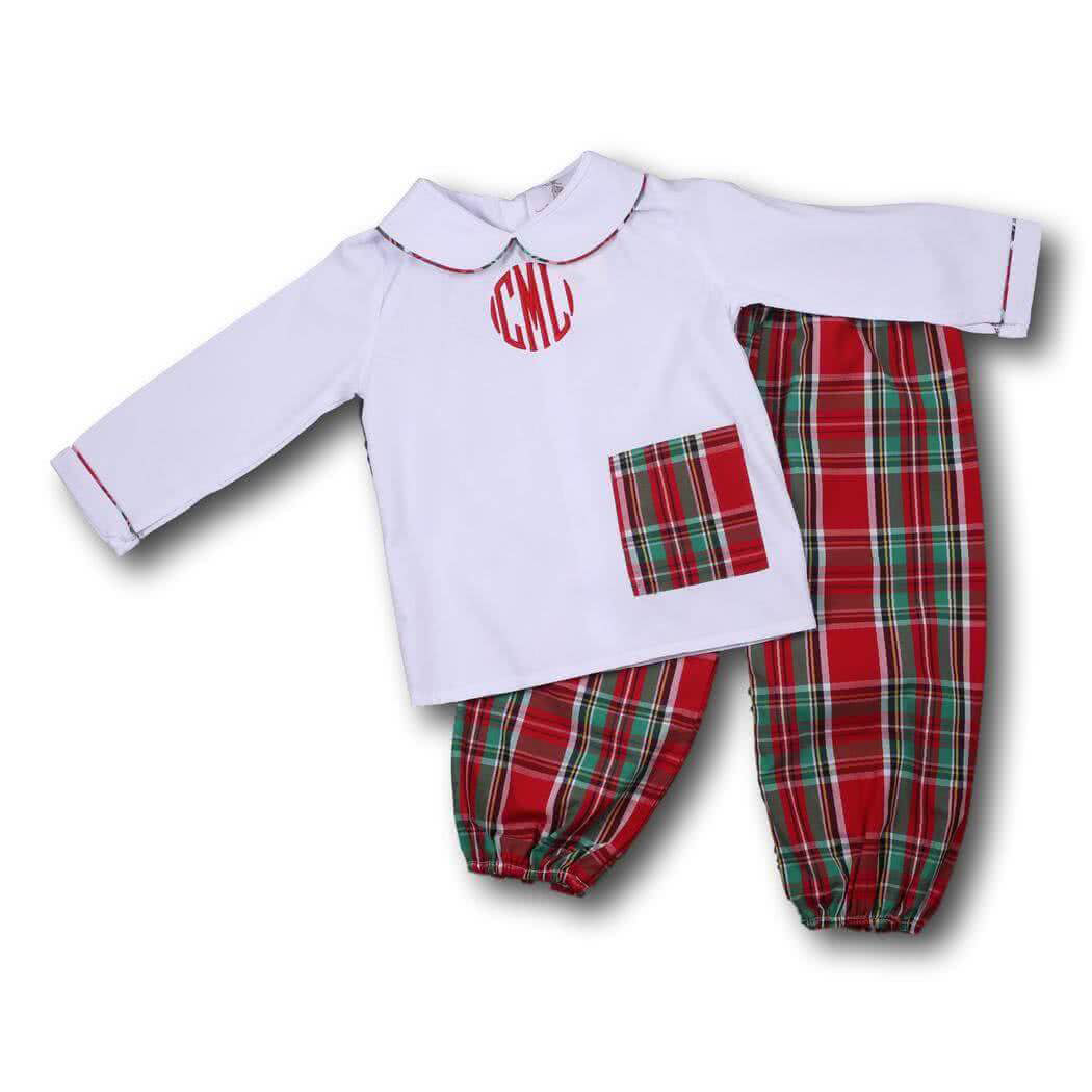 Holiday Plaid Ankle Pant Set
