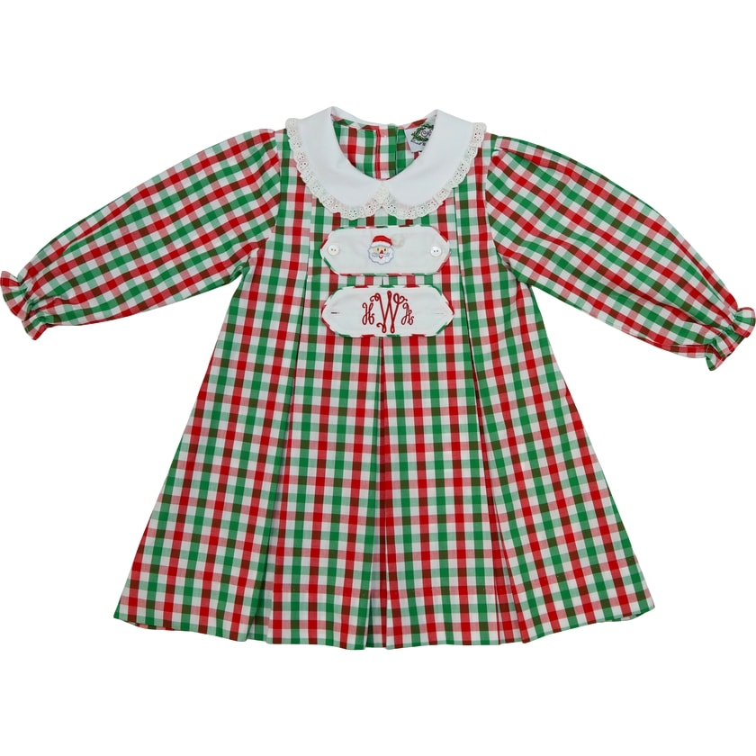 Holiday Check Tab Dress (2 Tabs Included)
