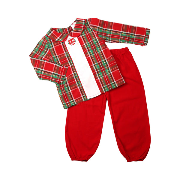 Holiday Plaid Double Breasted Pant Set