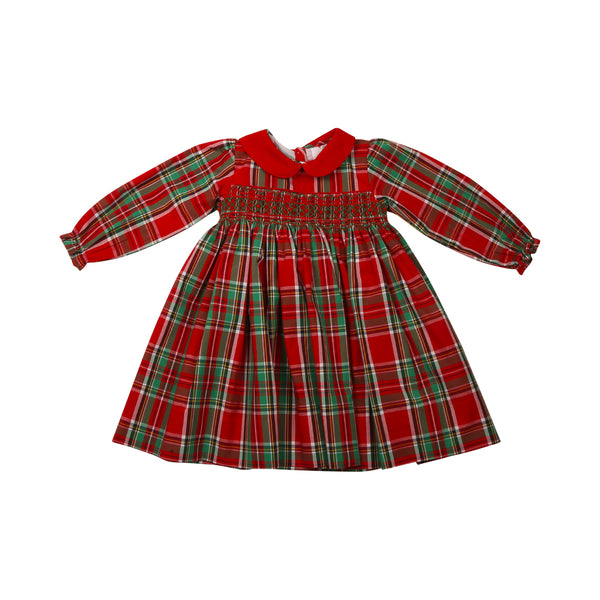 Holiday Plaid Smocked Dress