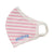 Kids Pink Stripe Face Mask - Fits Toddler to Age 10