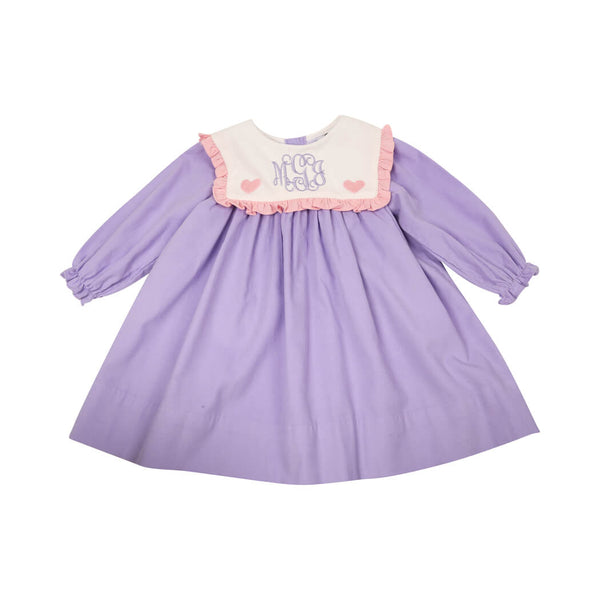 Lavender Cord Heart Dress