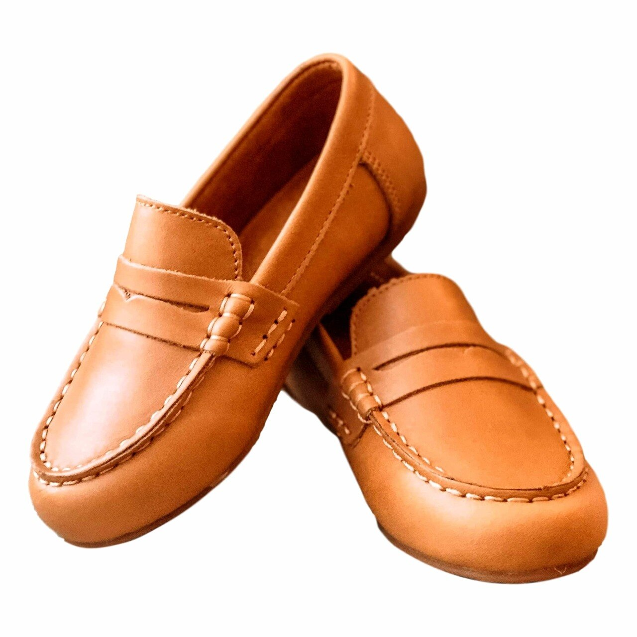 McCoy's Caramel Leather Penny Loafer Slip-On Shoes