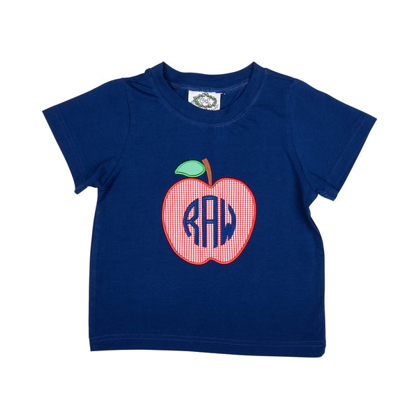 Navy Knit Apple Shirt