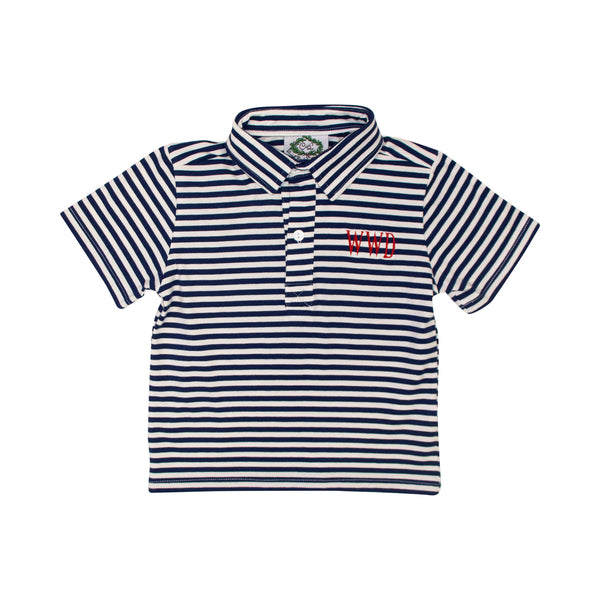 Navy Mini Stripe Polo