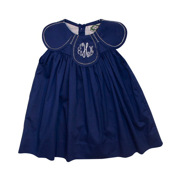 Navy Pique Eliza Dress