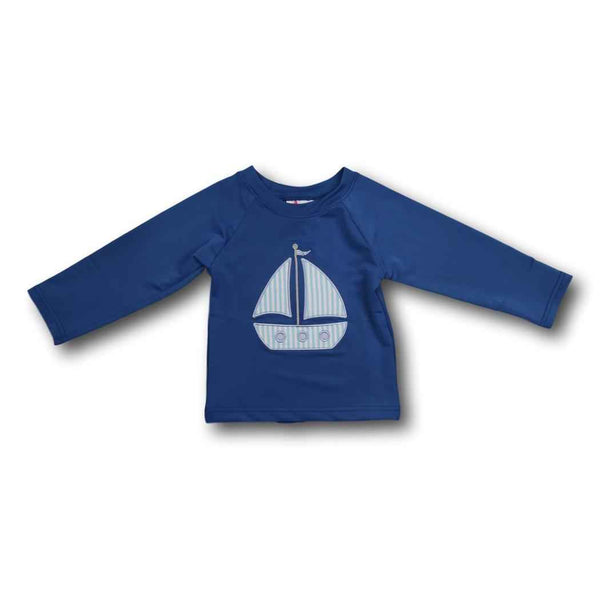 Navy Sailboat Rash Guard