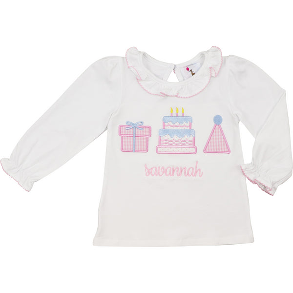 Pink Appliqué Birthday Shirt