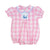 Pink Buffalo Check Smocked Whale Bubble