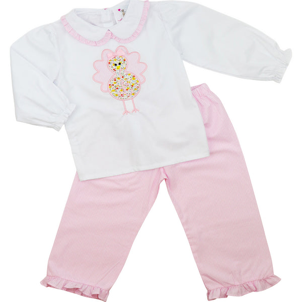 Pink Gingham Turkey Pant Set