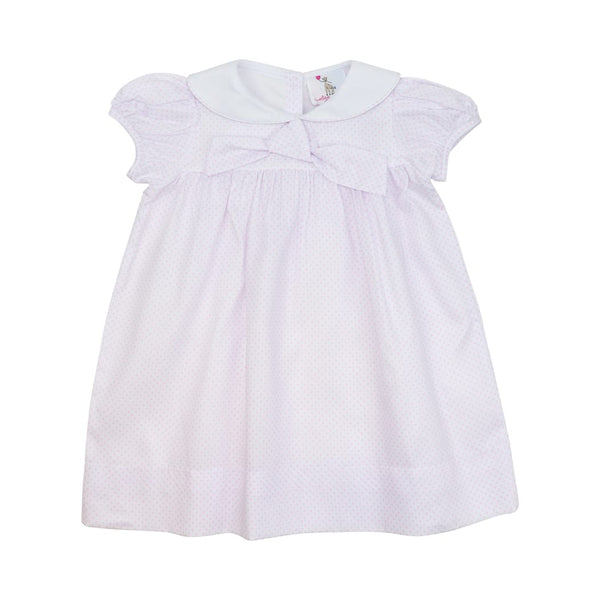 Pink Pique Dot Sailor Dress