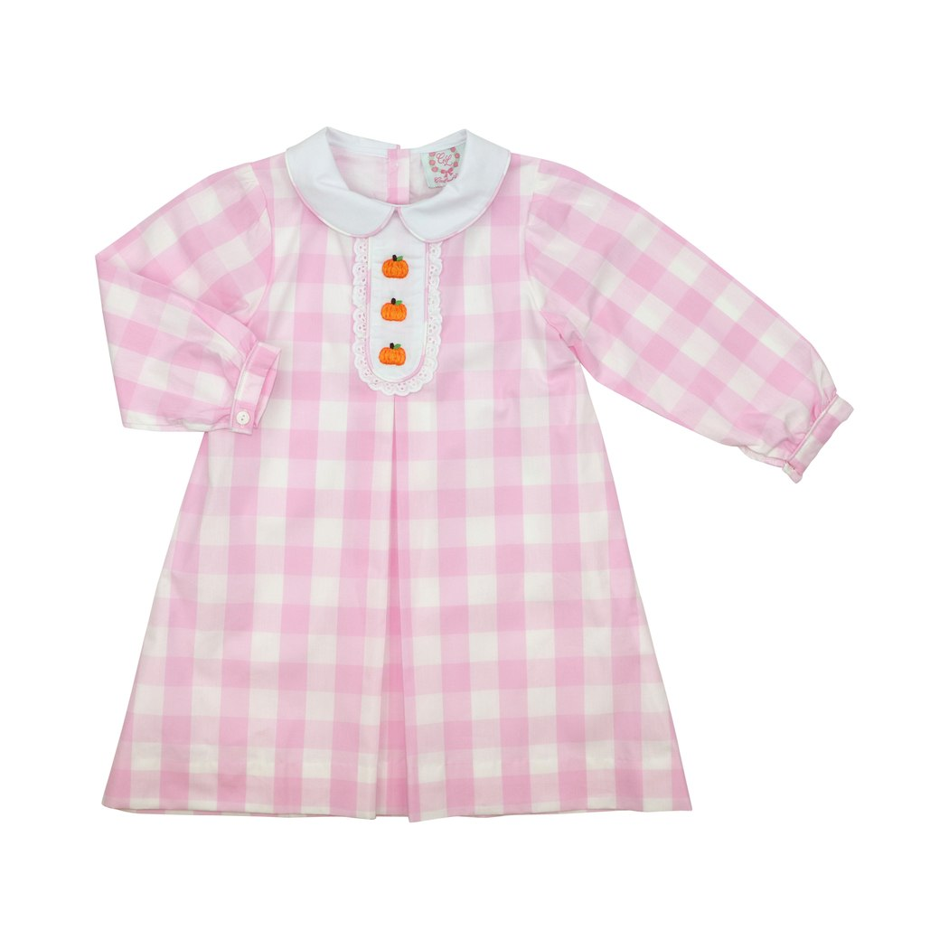 Pink Buffalo Check Pumpkin Dress